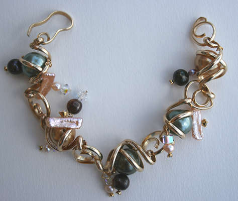 "Bracelet, twists and turns, 8 1/2"", $$200.0000"