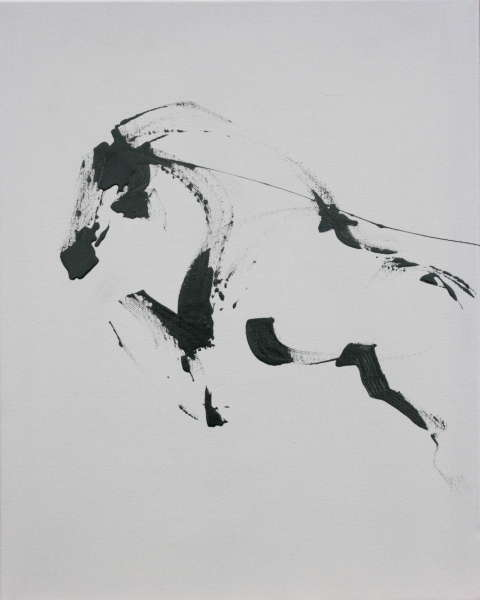 Black Ink Jumping Horse